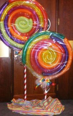 sweet candy swirls #lollipops #balloons