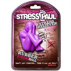 STRESS PAUL. Meet Stress Paul, the stress ball, the answer to your daily dose of work-related anxiety. Boss got you down? Cracking like an egg under the weight of those deadlines? Want to just wring someone's neck but can't take the time off work to go to prison? Then this is why you need Stress Paul! He will gladly take whatever you can dish out—squeeze out all that pent-up aggression on him—he doesn't mind. He's actually a co-worker who's glad to accommodate you!
