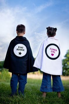 Your smallest bridal party members will love these personalized capes.