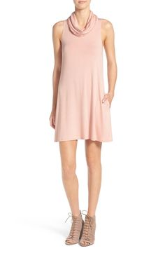 This dusty peach cowl neck shift dress is perfect to wear for a date night. Would even look super cute paired with a denim or moto jacket for those cooler fall evenings. This is an NSale must!