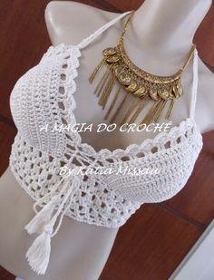 A MAGIA DO CROCHÊ: Top Cropped em Crochê - Top Cropped Paola