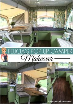 Felicia and her family gave their old pop up camper a makeover to make it feel more like home. A little paint and flooring gave the camper a whole new feel.
