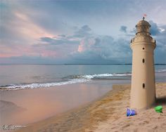 Lighthouse Sandcastle - Worth1000 Contests