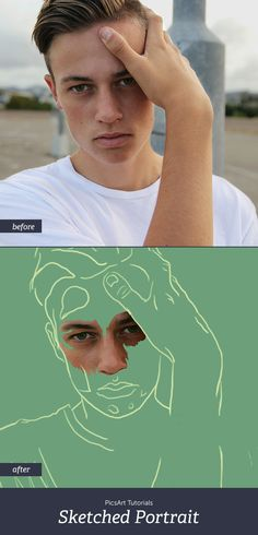 n this tutorial, we show you how to create a sketched portrait using layers in…