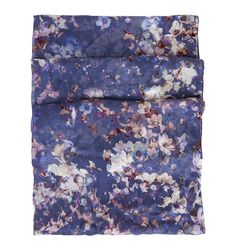 Blue Tabitha Floral Scarf | Scarves and Gloves | Accessories | Hobbs