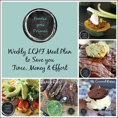 LCHF meal plan for 7 days, along with a handy shopping list to make your life just a bit easier. Lchf Meal Plan, Lamb Ribs, Primal Recipes, Banting, Meal Planning, Meal Prep, Main Dishes, Low Carb, Meals