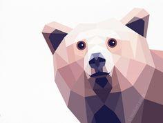Bear, Grizzly bear 2, Geometric print, Original illustration, Animal print, Minimal art, Nursery wall art