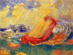 The Birth of Venus , by Odilon Redon, oil on panel, 1910, private collection