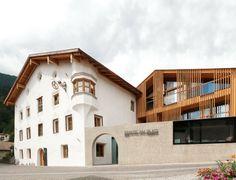 Hotel Weisses Kreuz und Ansitz Löwenwirt. Location: Burgusio, Italy; architects: Architekten Marx/Ladurner; year: 2013