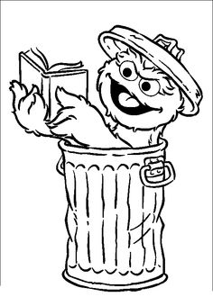 oscar the grouch coloring pages | 67 Gambar Sesame Street Coloring Pages terbaik | Kain ...