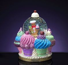 Glass - Snow Globes / Home Décor Accents: Home & Kitchen Ornament Storage Box, Christmas Ornament Storage, Snow Globe Cupcakes, Christmas Cupcakes, Cupcake Kitchen Decor, Cupcake Collection, Musical Snow Globes, Water Globes, Christopher Radko