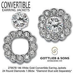Make Your Studs Stand Out With Our Convertible Earring Jackets That Allow You To Wear Three Diffe Ways Visit Favorite Gottlieb Sons