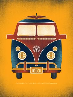 29 September 2012 / Avila Beach Resort / San Luis Obispo, CA - Wilco Volkswagen, Vw T1, Art And Illustration, Illustrations Posters, Band Posters, Cool Posters, Music Posters, Jonathan Richman, Avila Beach