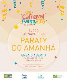 Quem estiver em Paraty de 28/01 a 31/01 também pode sentir um pouco do nosso Carnaval. Fique ligado na programação do pré-carnaval de Paraty!! #exposição #evento #festival #música #fotografia #arte #cultura #turismo #VisiteParaty #TurismoParaty #Paraty #PousadaDoCareca #PartiuBrasil #MTur #Carnaval #PréCarnaval