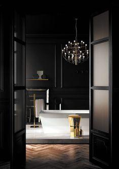 Eugeni Quitllet designs a new bathroom design tool for pomd'or Bathroom Design Tool, New Bathroom Designs, Bathroom Interior Design, Black Rooms, Dream Bathrooms, Bathroom Renovations, Contemporary Interior, Bathroom Inspiration, Interior And Exterior
