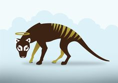 love Art - Google+ Tiger Drawing, Tasmanian Tiger, Simple Line Drawings, Endangered Species, Art Google, Love Art, Painting Inspiration, Animation, Extinct