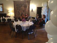 String quartet at the #kellogghouse #celebration #livemusic #stringquartet