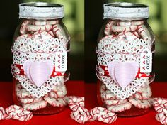 #DIY #Valentines Day Gift Idea using Pretzels and a Mason Jar
