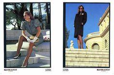 1983 YSL Rive Gauche adv -  by Helmut Newton fashion magazine ad