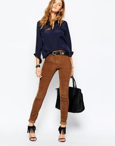 Blank NYC - Pantalon de survêtement skinny style 70's en velours côtelé
