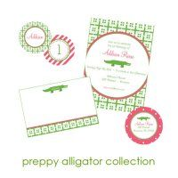 Preppy Alligator Collection : WH Hostess, Stationery Custom Designs Party Planning Holidays Birth Announcement Collections