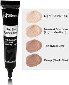 Best eye concealer. Im obsessed I cant talk about it enough!!!! It is perfect never have i had such a makeup product work so PERFECT IT Cosmetics Bye Bye Undereye MAKES MY. SKIN FLAWLESS