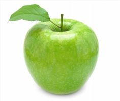 fresh green apple on white background poster #poster, #printmeposter, #mousepad