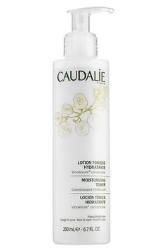 """It is probably the best skin-softener I've run across in my decade-plus as a beauty editor. It wipes away all the residual makeup my cleanser doesn't pick up and leaves my skin kitten-fur-misted-in-unicorn-tears soft. """"Caudalíe Moisturizing Toner, $28, available at Caudalíe. #refinery29 http://www.refinery29.com/beauty-editors-favorite-products-empty-containers#slide-15"""