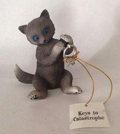 Little Cat Astrophies Cat Figurine Keys to Catastrophe Hamilton Collection | eBay