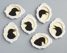 Raven Silhouette Cookies - this would be so fun to make for Sunday