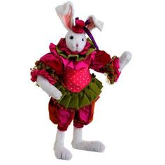 "RAZ 21"" Whimsical Posable Bunny Easter Decoration - very bright and colorful! Two different styles available  www.trendytree.com"