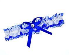 Strumpfband hellblaue Schleife