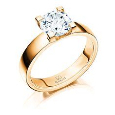 Ring i 18K guld med 1.60 ct diamant Bredd: 4.0 mm Höjd: 1.9 mm Vikt: 7.3 g För mer information om priser och leveranstid. klicka på begär offert nedan!