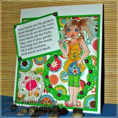 Four more of my drawings have been released in the Digistamps 4 Joy store , and this one is called MISTERI - GARDENER The ima. Kind Words, Take Care Of Yourself, My Drawings, Crafting, Amp, Flowers, Projects, Image, Craft