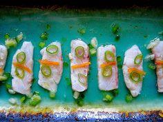 Peruvian Rockfish Sashimi / Tiradito Nikkei (sugar, mirin and sriracha-free)