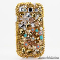 """Style 485 This Bling case can be handcrafted for Samsung Galaxy S3, S4, Note 2. The current price is $79.95 (Enter discount code: """"facebook102"""" for an additional 10% off during checkout)"""