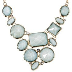 Women's Assorted Stone Plate Necklace - Gold/Green