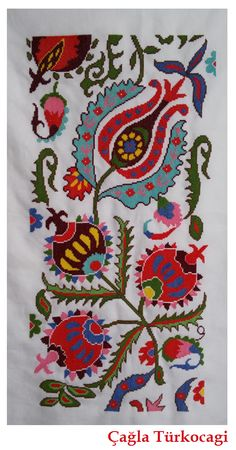 This Pin was discovered by Bey Embroidery On Kurtis, Mexican Embroidery, Folk Embroidery, Silk Ribbon Embroidery, Cross Stitch Embroidery, Embroidery Patterns, Cross Stitch Love, Cross Stitch Designs, Cross Stitch Patterns