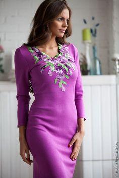 Платье сиреневое сшить