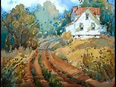 Joyce Hicks Watercolor Painting Demo - YouTube. Will this be the week I will try--so intimidating.