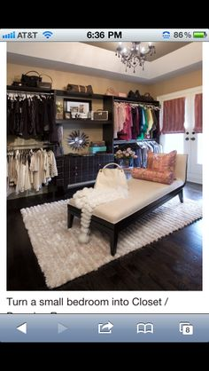 Umm, babe. When u have time can u build this for me.???Small bedroom to closet