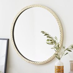 great texture on the frame of this mirror