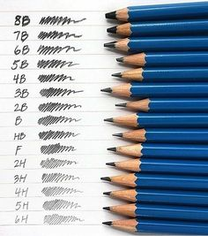 Pencil types | [Reminds me of 2b/HB pencils and the Common Entrance exam (FahmeenaOdetta)]