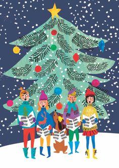 Christmas Mood, Christmas Is Coming, All Things Christmas, Vintage Christmas, Christmas Cards, Christmas Decorations, Jingle All The Way, Christmas Illustration, Christmas Wallpaper