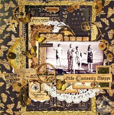 Steampunk scrapbook page sample #graphic45