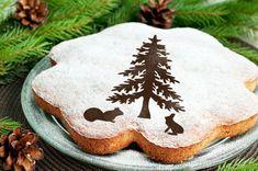 Christmas Tree Round stencil cake H013 Round stencil by PELECUT