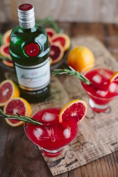 Delightfully Tacky: blood orange rosemary gin cocktail