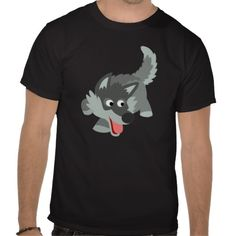 Cute Curious Cartoon Wolf T-Shirt by Cheerful Madness!! at Zazzle #zazzle #tshirts #wolf #curious #inquisitive #cheerfulmadness #cartoon #kawaii #cute