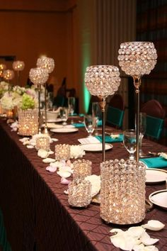 Place card table arrangements wedding receptions pinterest image result for tall wedding centerpieces without flowers junglespirit Images