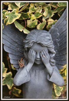 See no evil    OR.......  Weeping Angel?????